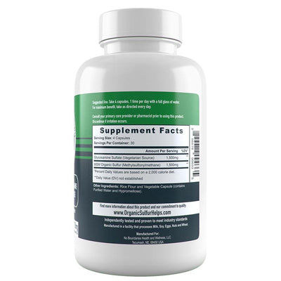 Glucosamine MSM Supplement Facts