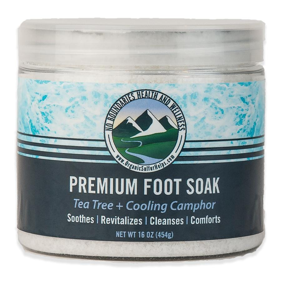 MSM Bath Salts: Premium Foot Soak Powder with Pure Organic Sulfur Crystals, Bath Salts, and Essential Oils No Boundaries Health & Wellness