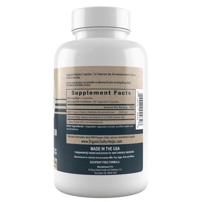 MSM capsules 500 mg supplement facts