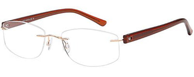 Emporium Rimless Emporium Rimless EMP7589  - Gold Specs at Home