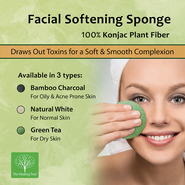 Natural White Facial Softening Sponge