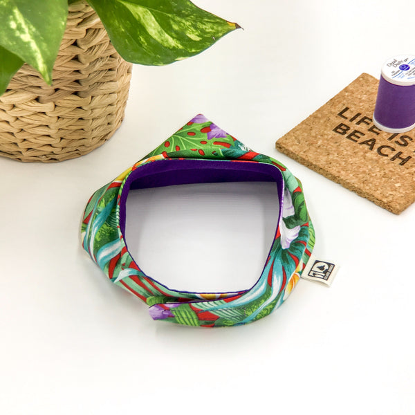 Purple Paradise Bandana-Back