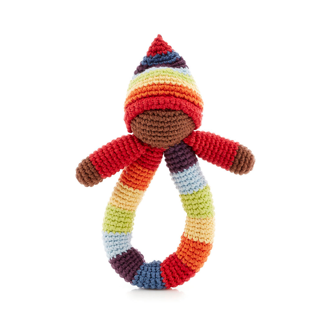 Pixie Ring Rattle - Rainbow
