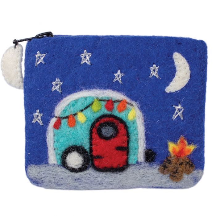 Felted Coin Purse - Camper