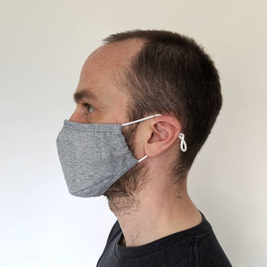 Adult Cotton Face Mask with filter pocket - Grey