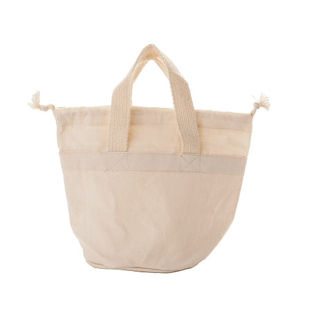 Organic Cotton Drawstring Bag with Handles - 9 x 5