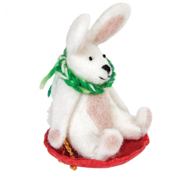 Wool Ornament - Flopsy Rabbit