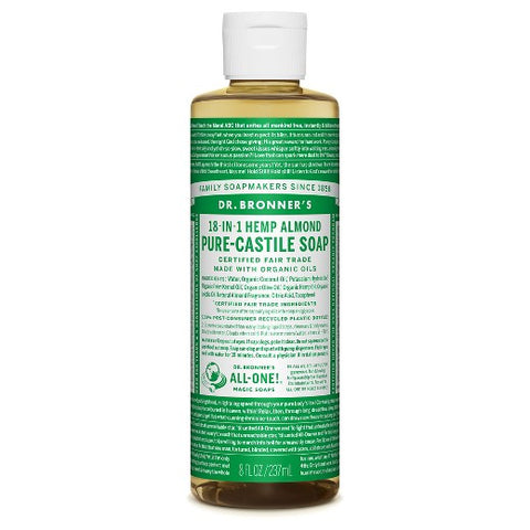 Almond Pure-Castile Liquid Soap  (16 oz.)