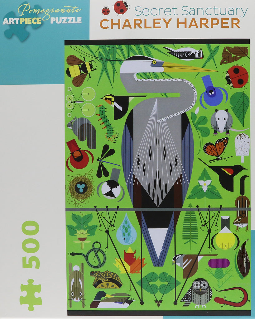 Charley Harper: Secret Sanctuary 500-Piece Puzzle