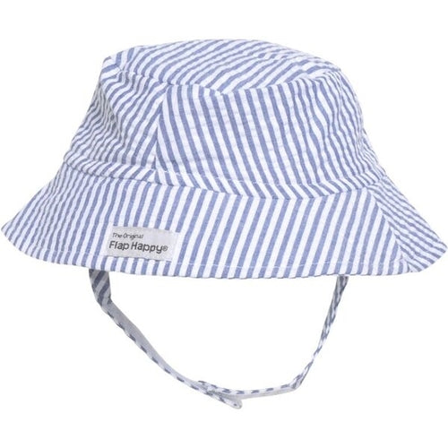 UPF 50+ Bucket Hat - Chambray Stripe