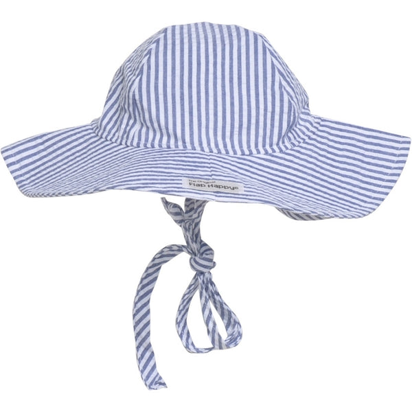 UPF 50+ Floppy Hat - Chambray Stripe