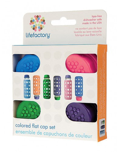 Flat Caps (4pk) by Life Factory