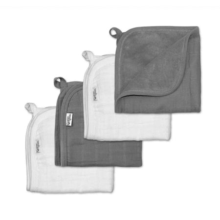 Muslin Washcloths made from Organic Cotton (4pk)