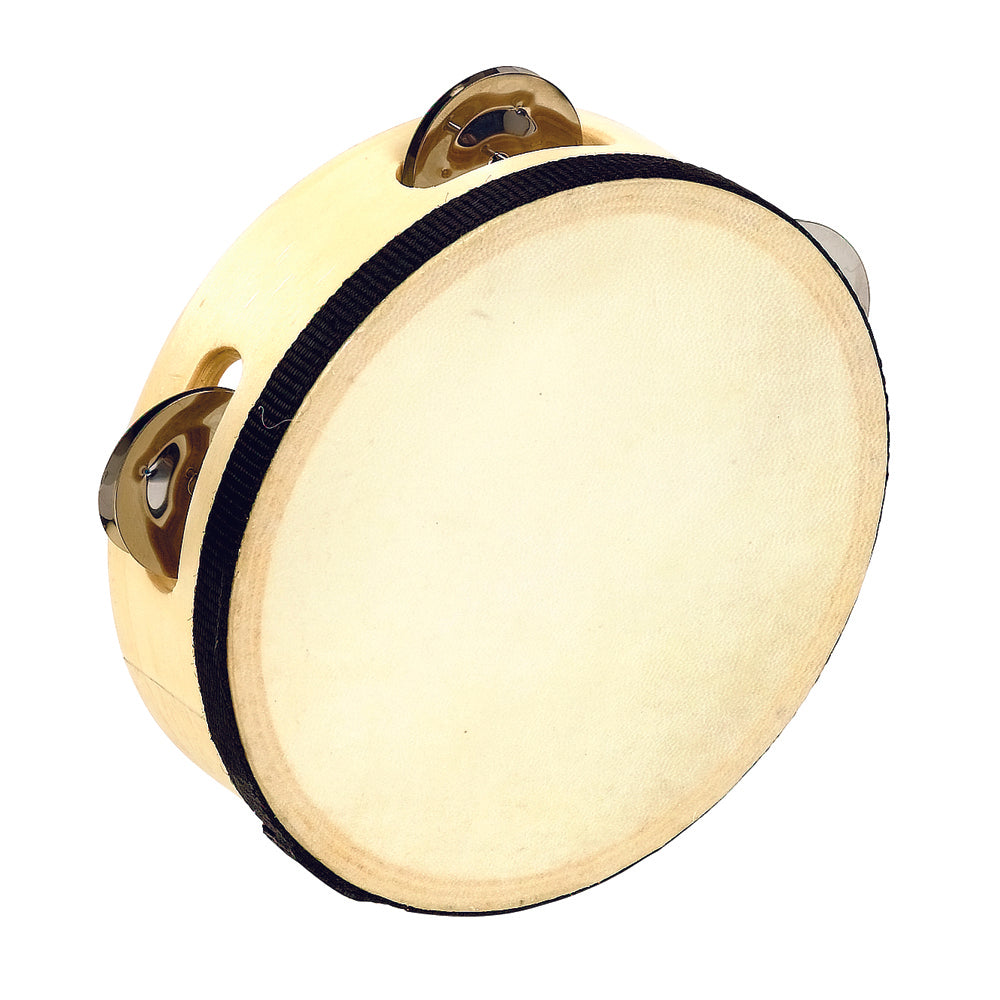 "6"" Wooden Tambourine with Head"