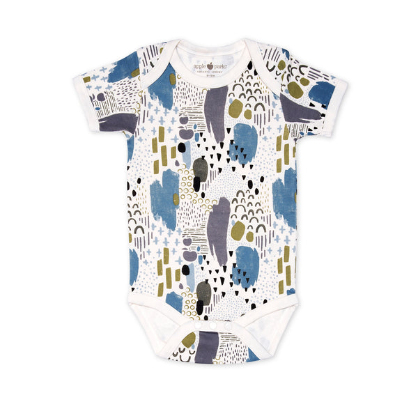 Abstract Dusk Organic Onesie