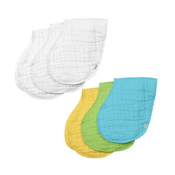 Organic Cotton Muslin Burp Cloths (3pk)