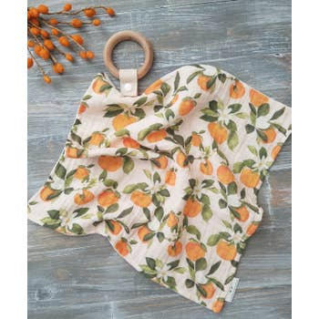 Organic Teething Lovey - Orange Blossom