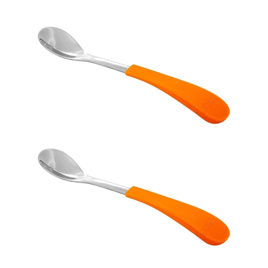 Avanchy Stainless Steel Infant Spoons (2pk) - Orange