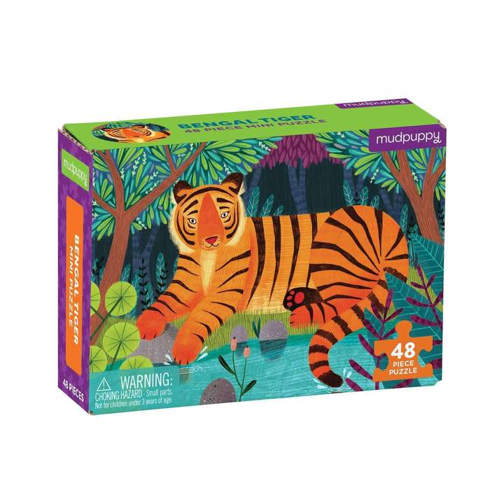 Bengal Tiger Mini Puzzle (48 pc)
