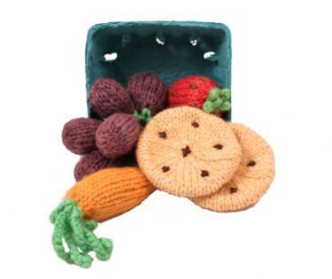 Knitted Set - Carrot, Strawberry, Grapes, Cookies