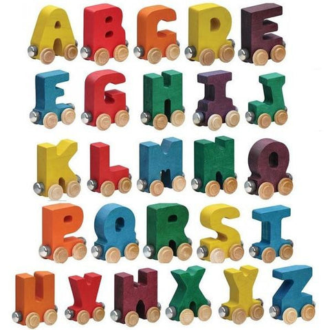 Magnetic Name Train Letters - Bright Colors