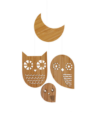 Owl Family Bamboo Mobile