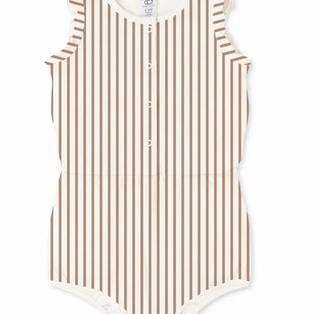Amelia Romper - Sunset Stripe