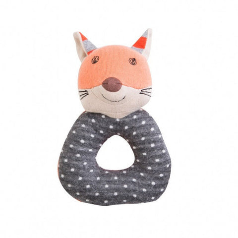 Farm Buddies Organic Cotton Teething Rattle - Frenchy Fox
