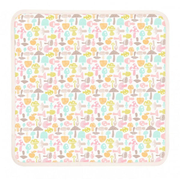 Organic Cotton Baby Blanket - Candy-Colored Mushroom