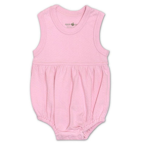 Pink Pointelle Organic Bubble Romper
