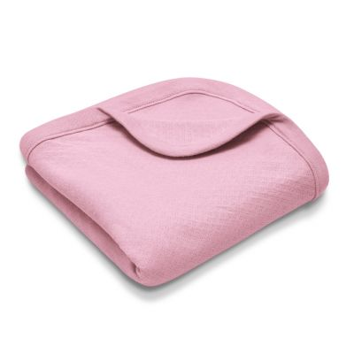 Organic Cotton Baby Blanket – Pink Pointelle
