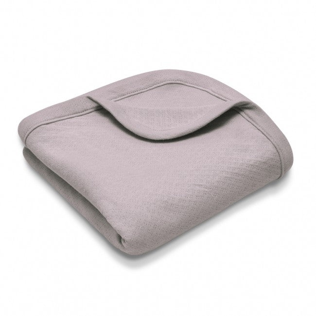 Organic Cotton Baby Blanket – Grey Pointelle