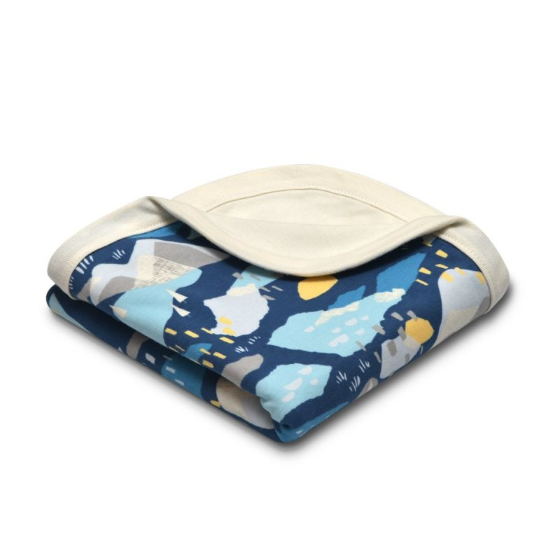 Organic Cotton Baby Blanket - Blue Mountains
