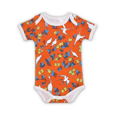 Enchanted Leaves Orange Organic Onesie