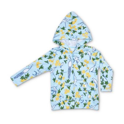Enchanted Leaves Blue Lala Curio Hoodie