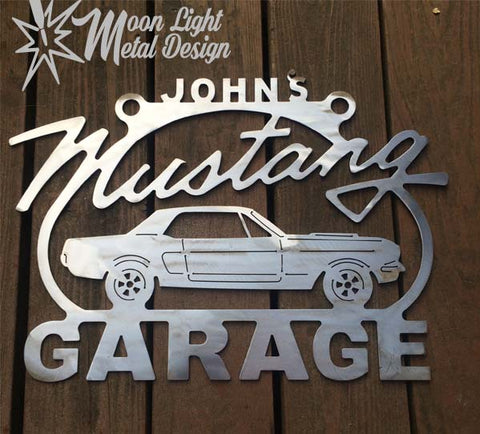 Mustang  Metal Sign - With Any Name On Top 1st GENERATION
