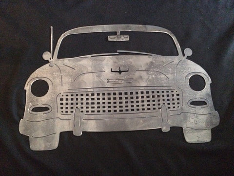 Chevy Front 55 metal plasma cut art