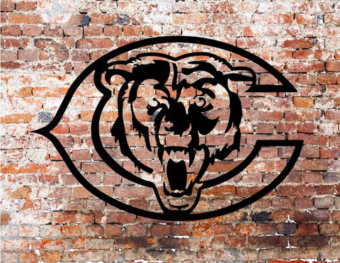 Chicago Bears Metal Art / powder coated finish
