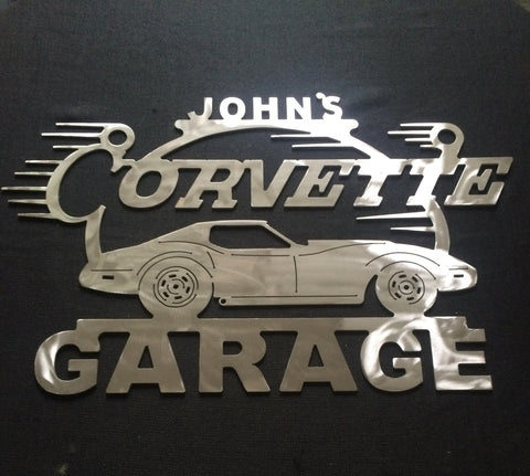 Corvette C3 3rd Generation Metal Garage Sign 68-82