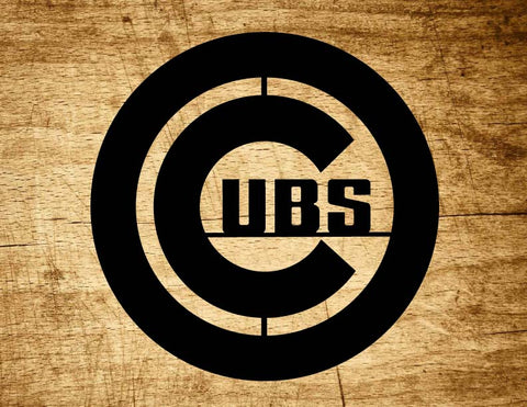 Chicago Cubs Metal Baseball Art