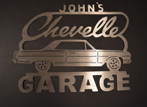 Dodge Challenger Metal Garage Sign with Any Name On Top / 1st generation