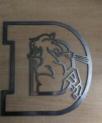Denver Broncos Old Logo Metal Art Football Art