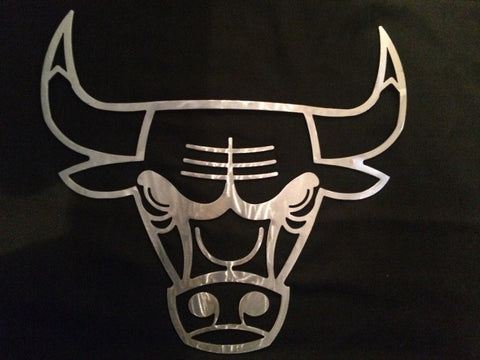 Chicago Bull Basketball Metal Art
