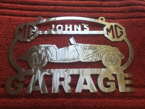 cbb1abdb3ecde MG MGA 53-54 Metal Garage sign Custom Personalized shop sign