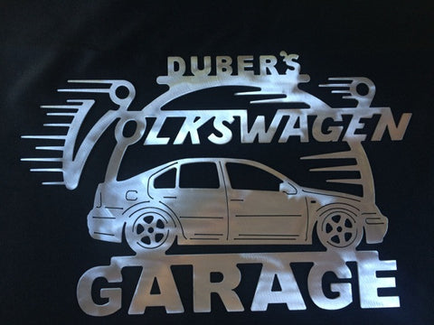 Volkswagen Jetta 99-05 Steel  Metal Garage sign