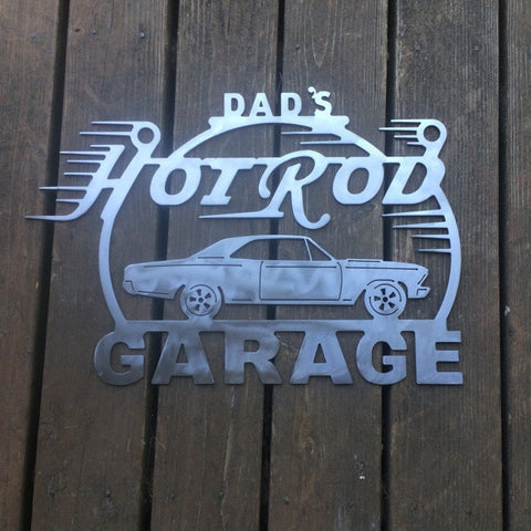 Hot Rod Metal Garage Sign