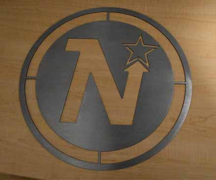 Minnesota North Stars Hockey Metal Art