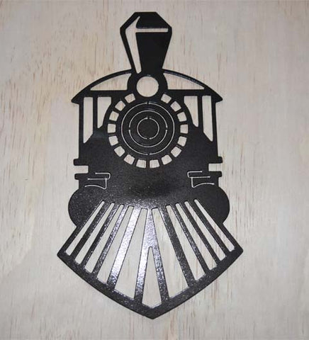 Steam train metal wall art