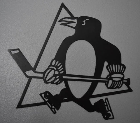 Pittsburgh Penguins Hockey Metal Art