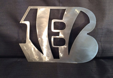 Cincinnati Bengals Metal Art Sign Large